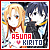 Sword Art Online: Kirigaya Kazuto (Kirito, The Black Swordsman) & Yuuki Asuna (Asuna, The Flash):